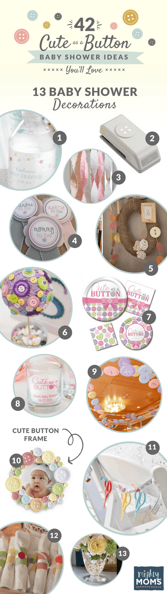 42 Cute as a Button Baby Shower Ideas You\'ll Love - MightyMoms.club