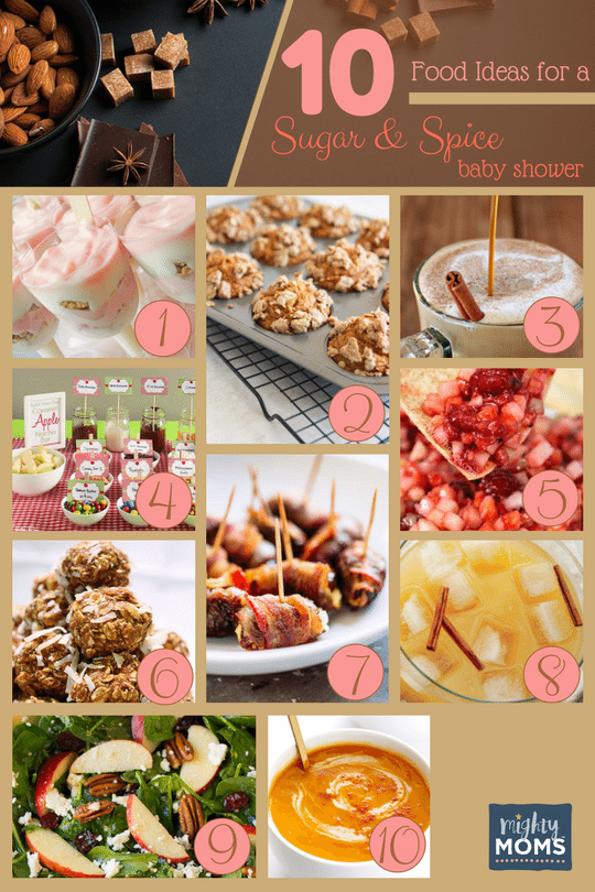 36 Sweet Ideas for a Sugar & Spice Baby Shower ~ MightyMoms.club