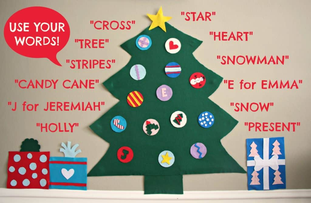 A DIY Felt Christmas Tree Your Toddler Can Tear Apart ~ Mighty Moms
