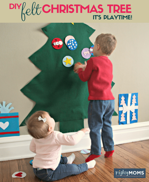 Command Strips Christmas Tree: A DIY Felt Christmas Tree Your Toddler Can Tear Apart