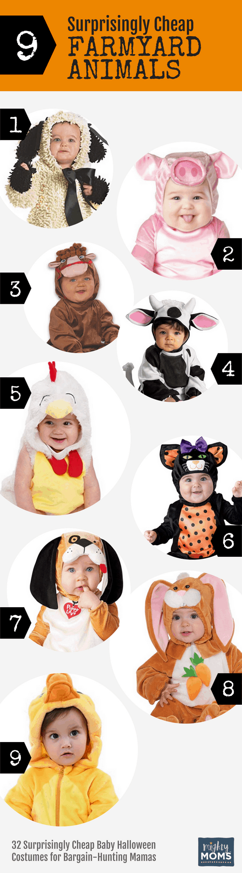 Cheap Farmyard Baby Halloween Costumes - MightyMoms.club
