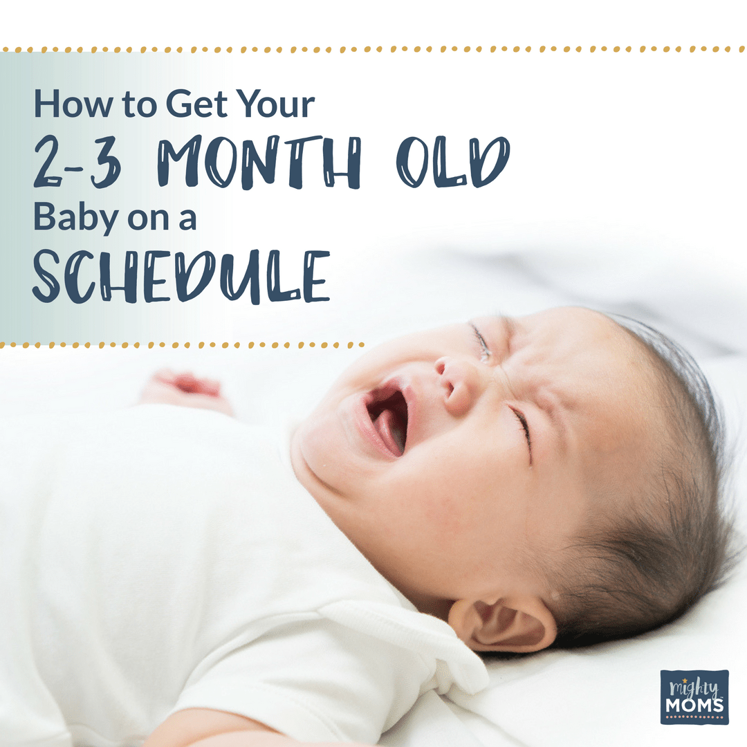 How to Get Your 2-3 Month Old Baby On a Schedule {Free Worksheets!} -  MightyMoms.club