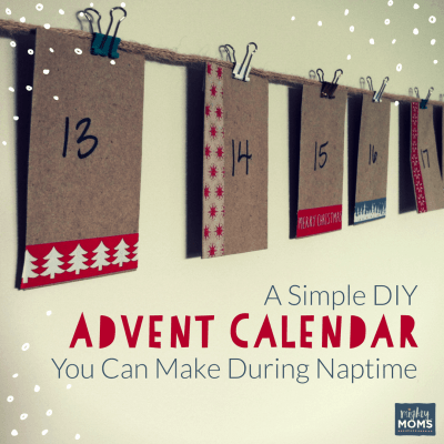 A Simple DIY Advent Calendar You Can Make During Naptime