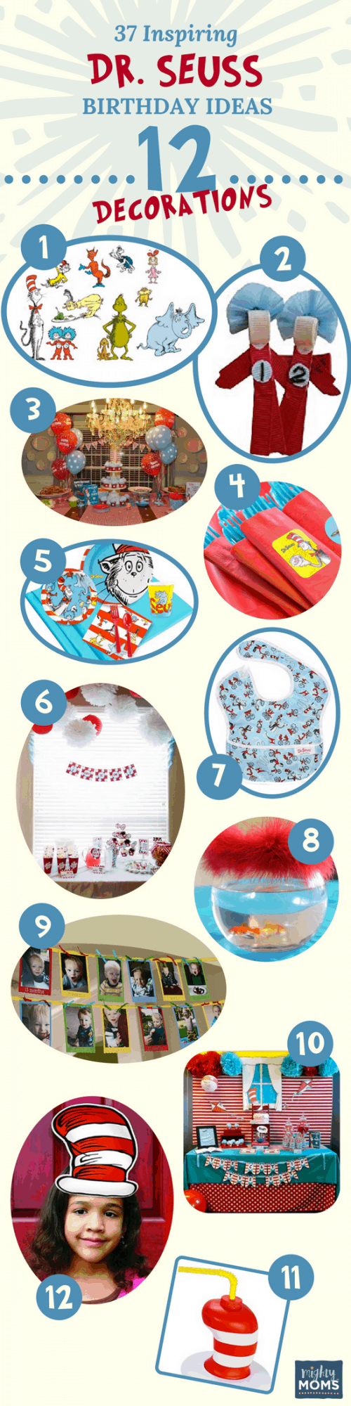 Decorations: 37 Inspiring Dr. Seuss Birthday Ideas for the Most Fantastic Party in Whoville - Mightymoms.club