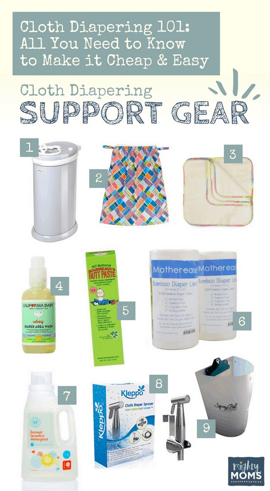 Cloth Diapering 101 - Smart Support Gear to Make it Easier - MightyMoms.club