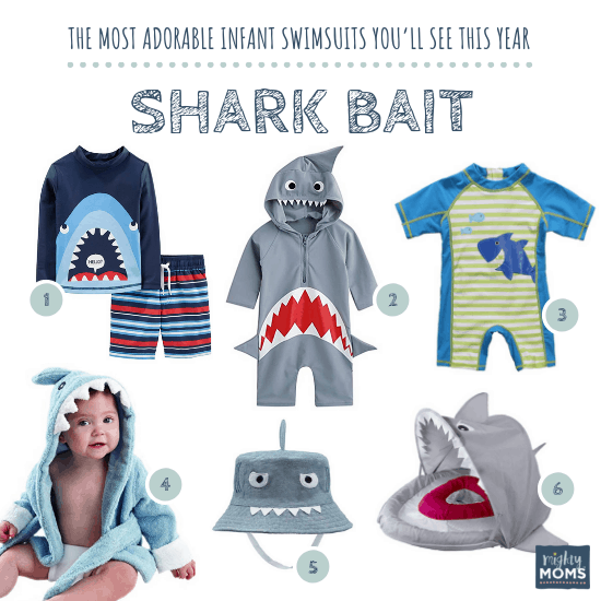 Infant Swimsuits: Shark Bait Collection - MightyMoms.club