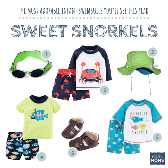 Infant Swimsuits: Sweet Snorkels Collection - MightyMoms.club