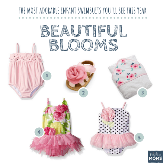 Infant Swimsuits: Beautiful Blooms Collection - MightyMoms.club
