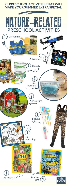 Nature Summer Preschool Activities