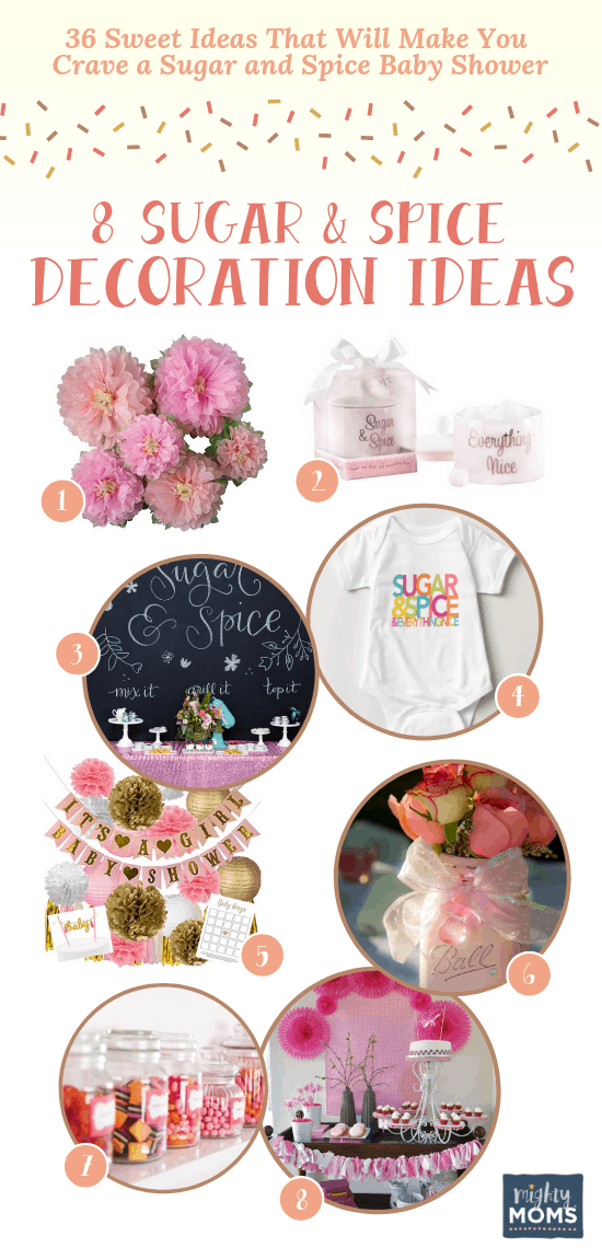 Decorating ideas for your sugar and spice baby shower - MightyMoms.club