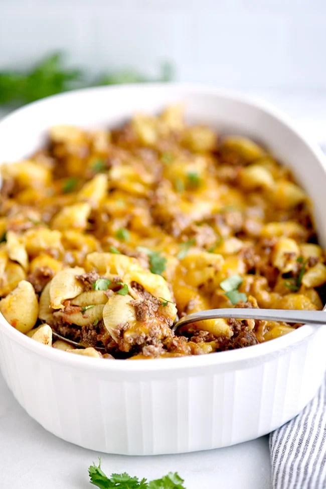 Taco Pasta Casserole