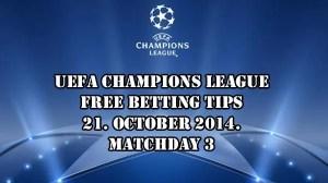 UEFA Champions League Free Betting Tips 21.10.2014.
