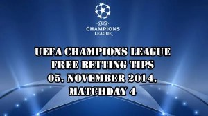 Champions League Betting Tips 05.11.2014.