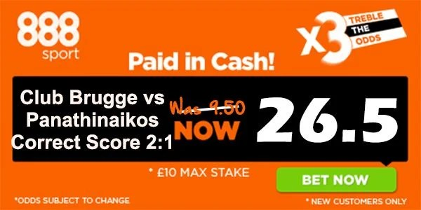 Club Brugge vs Panathinaikos Prediction and Betting Tips