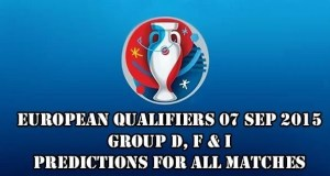 EURO 2016 Qualifiers Predictions and Betting Tips 07.09.2015.