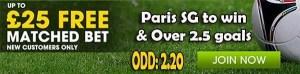 Caen vs Paris SG Bet