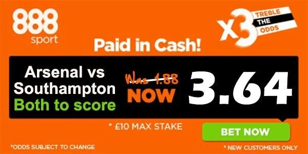 Arsenal vs Southampton Bet