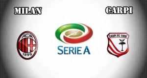 Milan vs Carpi Prediction and Betting Tips