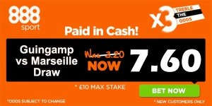 Guingamp vs Marseille Prediction and Bet