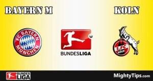 Bayern vs Koln Prediction and Betting Tips