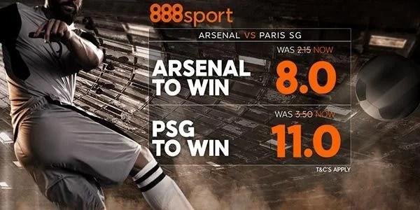 Arsenal vs PSG Prediction and Bet