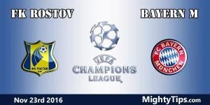 FK Rostov vs Bayern Prediction and Betting Tips