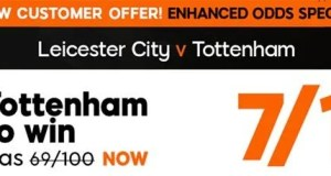 Leicester vs Tottenham Prediction and Bet