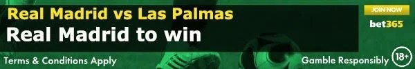 Real Madrid vs Las Palmas Prediction and Bet