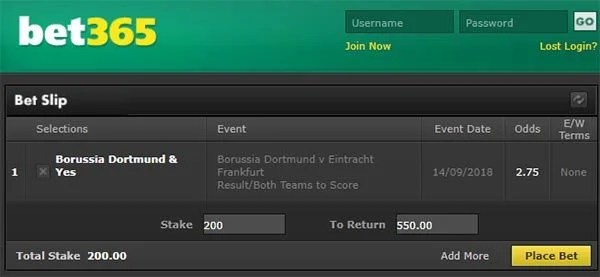 Dortmund vs Frankfurt Prediction and Bet