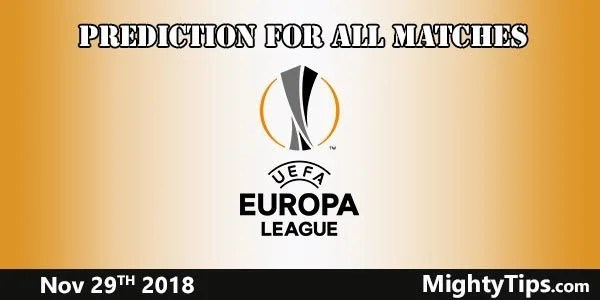 Europa League Prediction and Betting Tips Matchweek 5