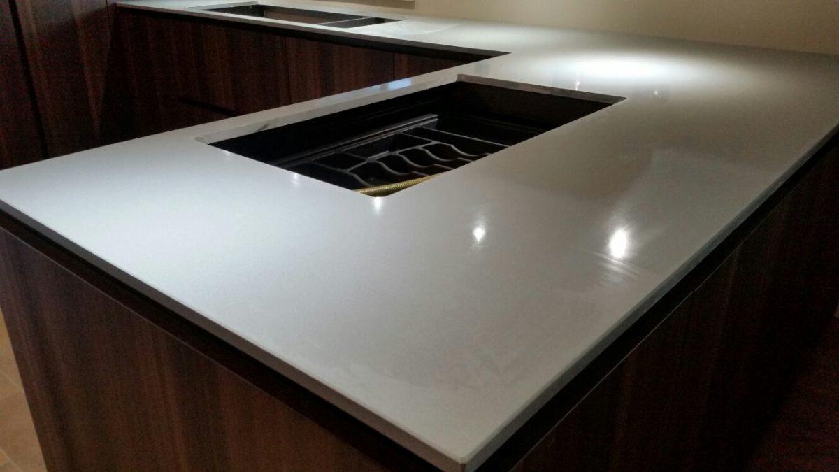 Top cucina OKITE grigio nordico  Migliorati Srl Roma