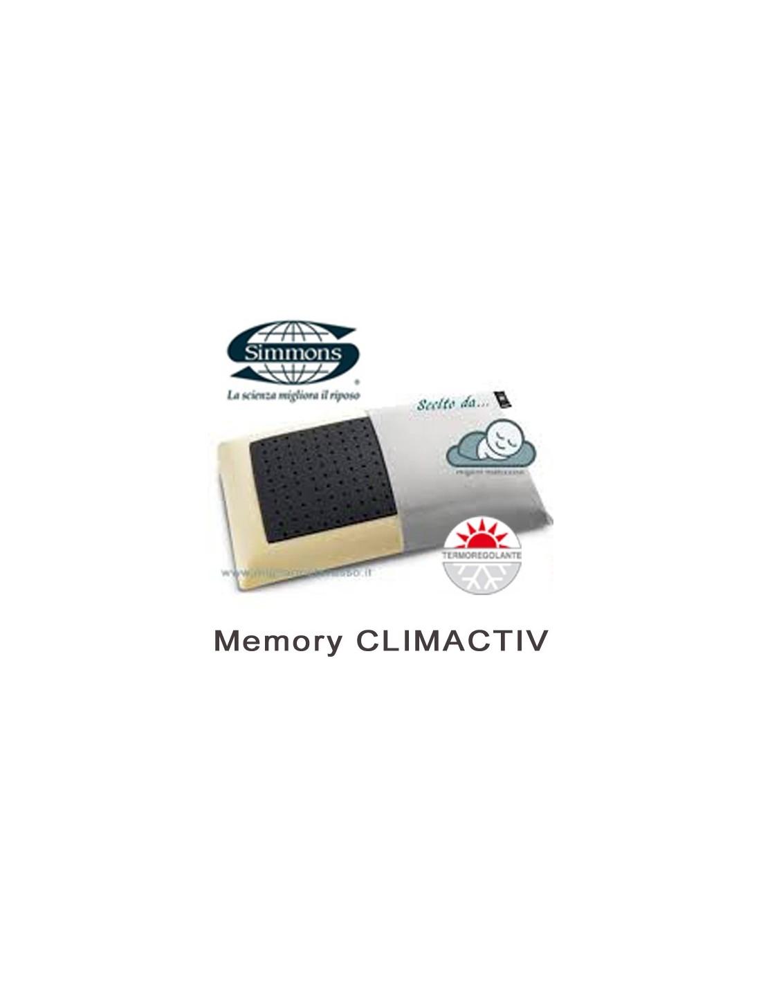 Cuscino Memory Simmons Climactiv fresco traspirante in