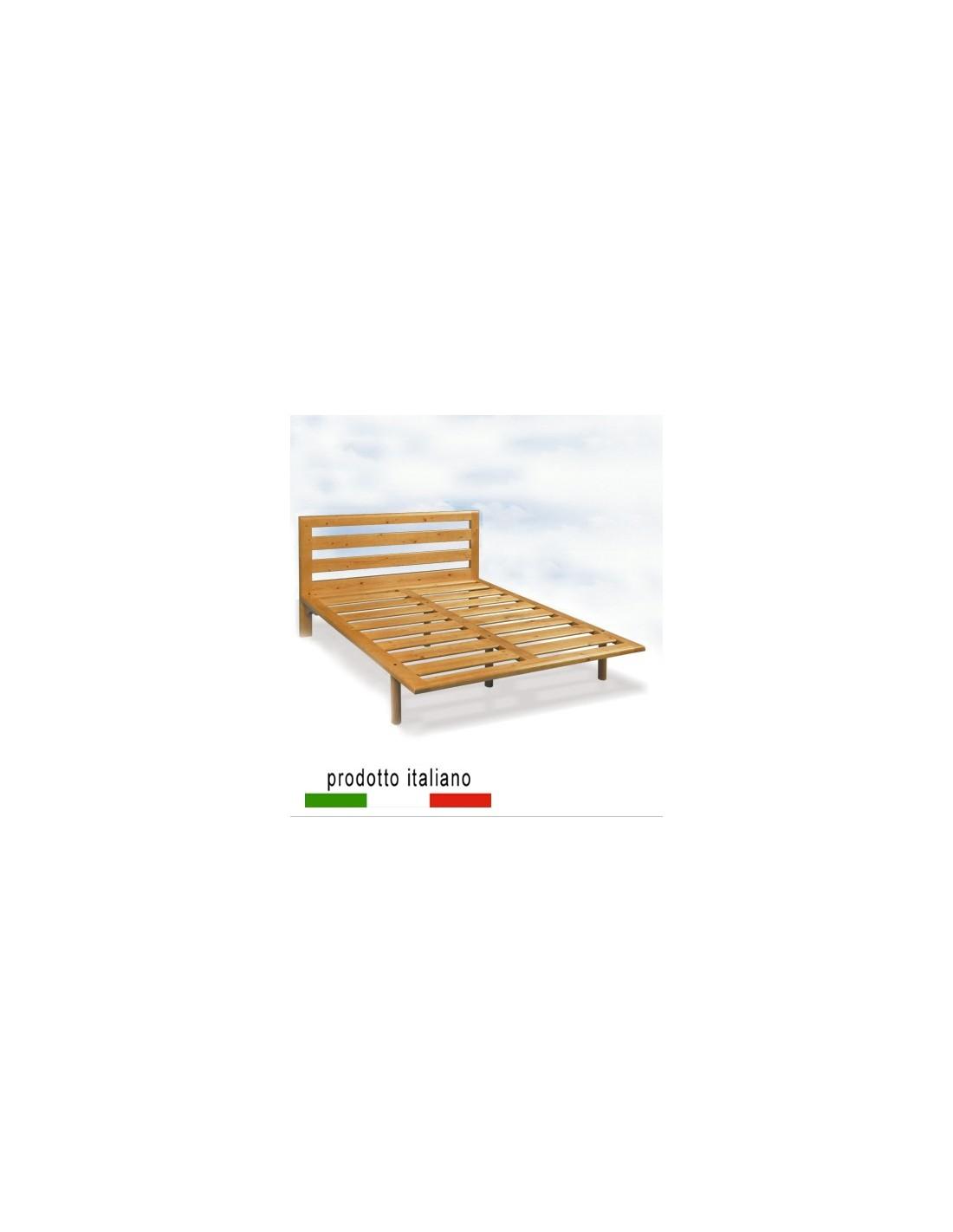 Rete in legno massello anche con testiera letto legno