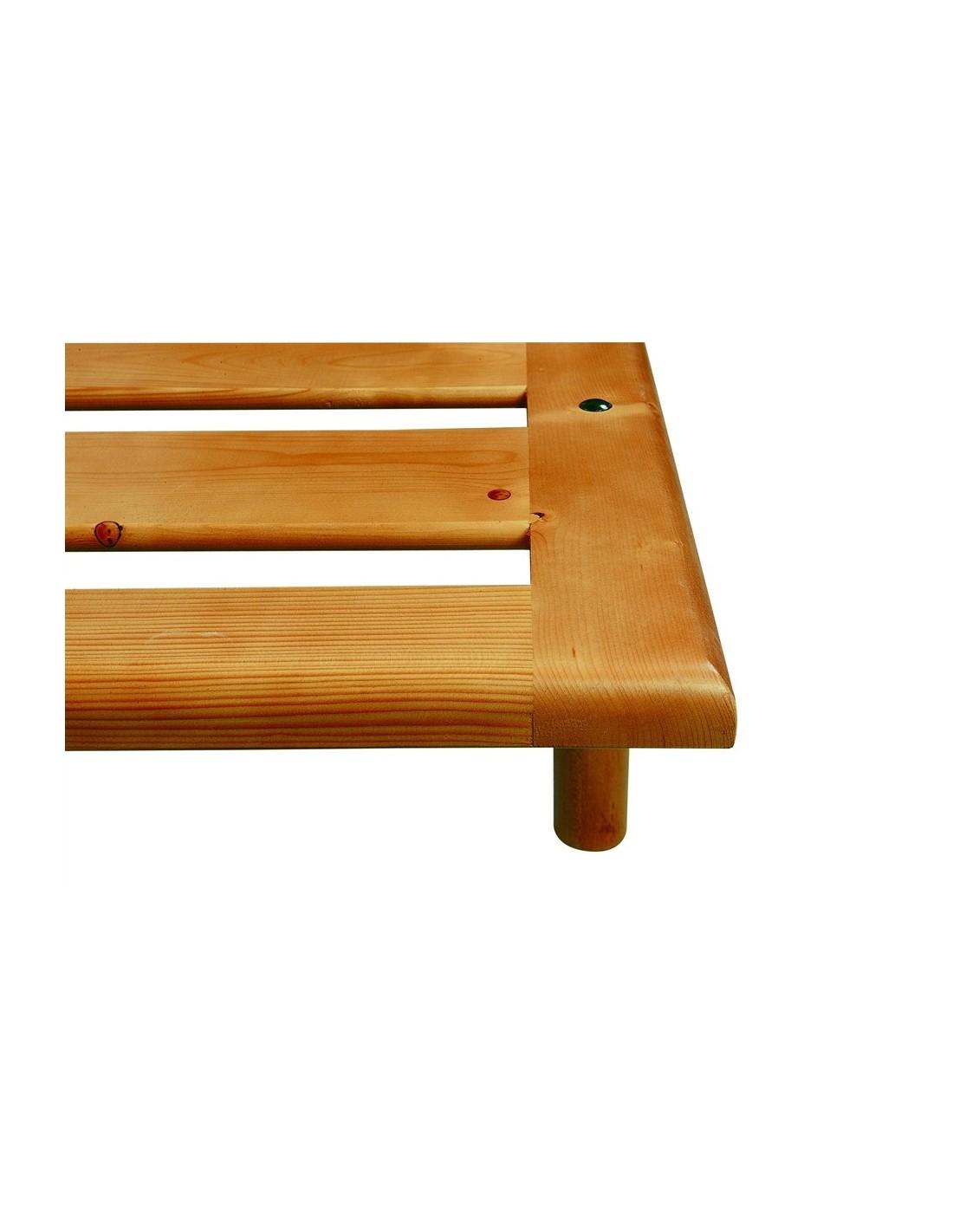 Rete in legno massello matrimoniale a doghe strette o