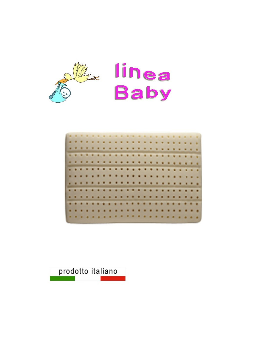 Cuscino lattice antisoffoco specifico per il bambino antiacaro
