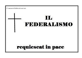 morte federalismo