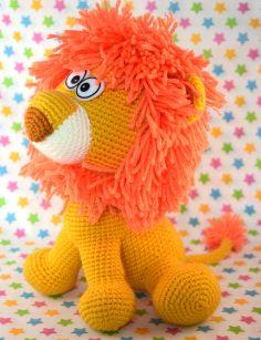 Lion amigurumi peluche lion havvu unlu 1