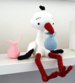 Lucky the stork la cigogne porte-bonheur crochet légende alsace zipzipdreams 10