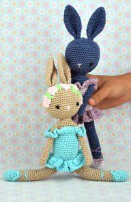 Poupée Lapin Ballerine - Kikalite - Ballerine bleu - Amigurumi lapin - Ballerina Bunny Charlotte 9