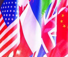 drapeaux pays flottants