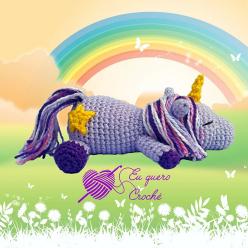 Licorne Dormeuse - Eu Quero Croche