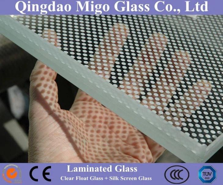 Ceramic Frit Laminated Glass with SilkScreen Printing