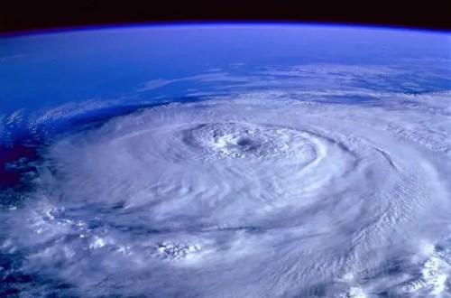 a satellite photo of a hurricane, a major migraine trigger
