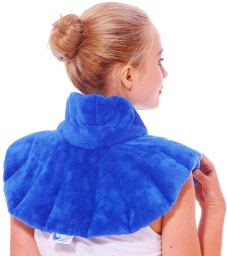 The Huggaroo shoulder wrap provides relief for moms with migraine.