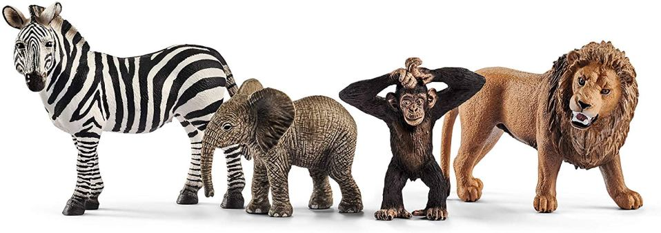 Safari animal figurines make a fun and interactive gift ideas for kids.