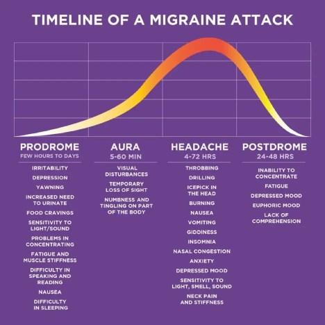 Phases of migraine graphic