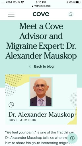 Cove review - Cove Advisor Dr. Mauskop