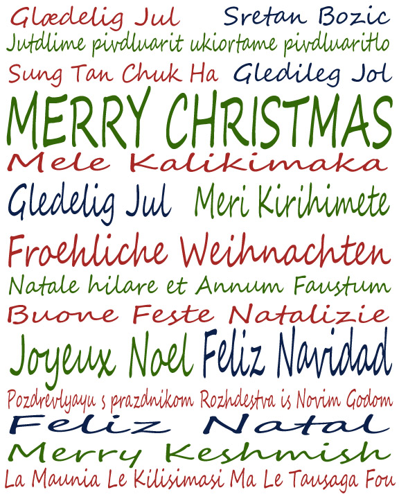 merry christmas in every language
