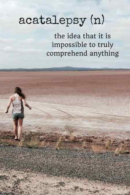 acatalepsy travel words