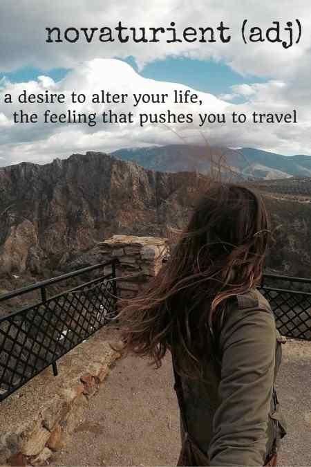 novaturient travel words